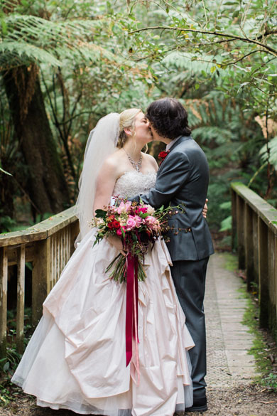 Lyrebird Falls Wedding by I Heart Flowers