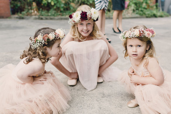 Wedding Flower Crowns by I Heart Flowers