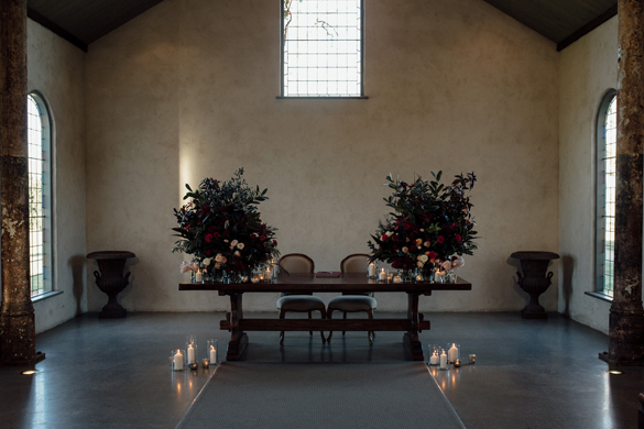 Winter wedding at Stones Chapel