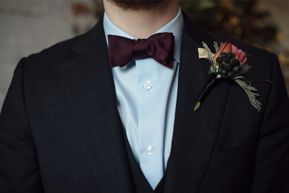 I Heart Flowers mens buttonhole